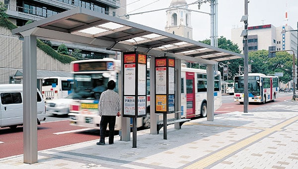 県庁・静岡市役所葵区役所前バス停1