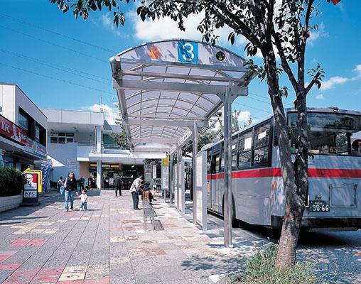 東急鷺沼駅前ロータリーバス停1
