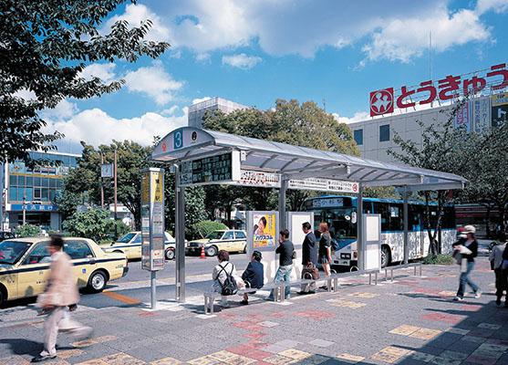 東急鷺沼駅前ロータリーバス停2