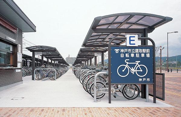 神戸市立鷹取駅前自転車駐車場2