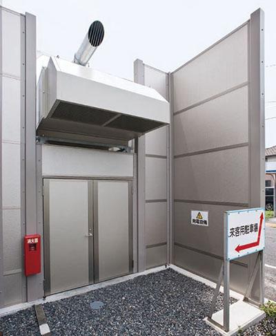 藤枝市庁舎非常用発電装置2