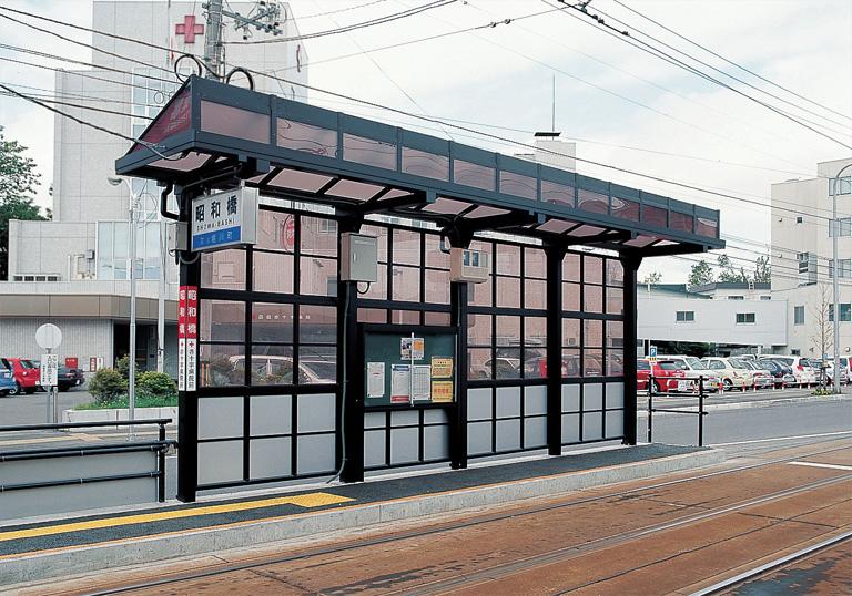 函館市電停留所「昭和橋」2